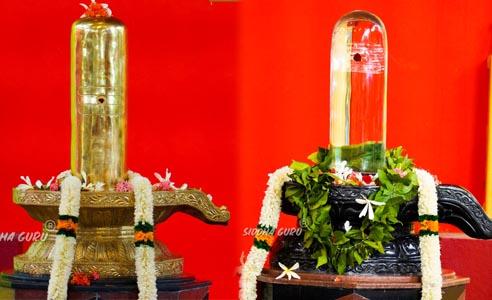 Pancha loha shiva linga spatika shiva linga