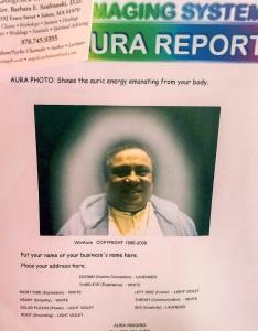 siddhaguru aura shows gold color face